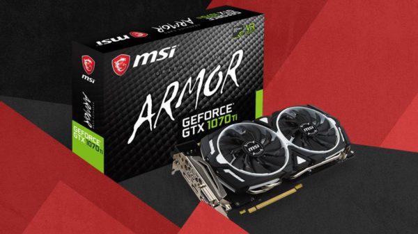 Soutěž o extrémně výkonnou grafickou kartu MSI GeForce GTX 1070 Ti ARMOR