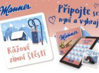 Růžové zimní štěstí – hra s firmou Manner