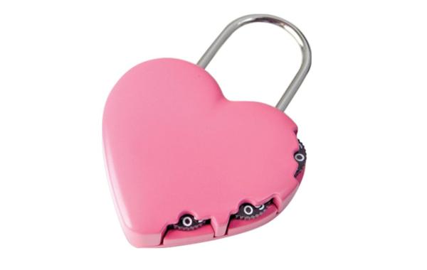 Vyhrajte zámek na kufr ve tvaru srdce