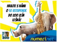 Soutěž o 10 volných vstupenek do ZOO Zlín Lešná