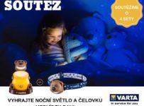 Soutěž o 4 dárkové VARTA sety nočního světélka a čelovky s medvídkem Paulem