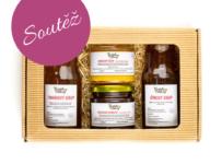 Soutěž o dárkový balíček domácích džemů a sirupů podle vlastního výběru