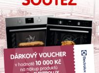Soutěž o voucher na nákup produktů Electrolux v hodnotě 10 000 Kč