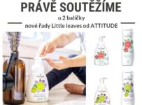 Soutěž o dva balíčky dětské kosmetiky Attitude Little leaves