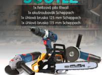 Soutěž o produkty značek Riwall a Scheppach