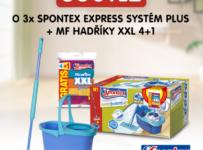 Soutěž o 3x Spontex Express systém Plus + MF Hadříky XXL 4+1