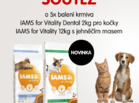 Soutěž o 10x nové krmivo IAMS for Vitality s čerstvým masem