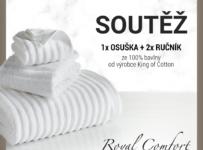 Soutěž o 1x osuška a 2x ručník ze 100% bavlny od King of Cotton
