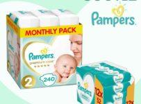 Soutěž o měsíční balení Pampers Premium Care a velké Wipes
