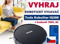 Soutěž o robotický vysavač TESLA RoboStar iQ300 v hodnotě 7.989 Kč