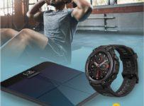 Soutěž o hodinky Amazfit T-Rex Pro Meteorite Black a chytrou váhu Amazfit Smart Scale